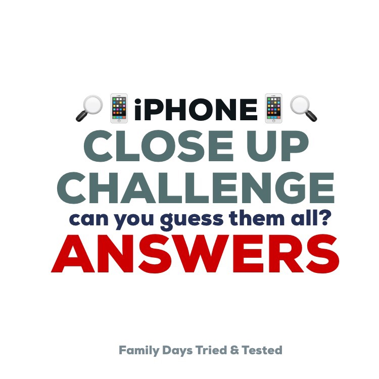 iphone close up challenge answers