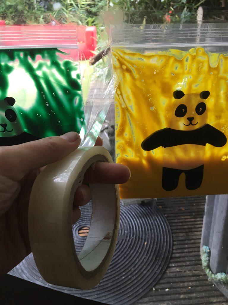 sensory window paint bags