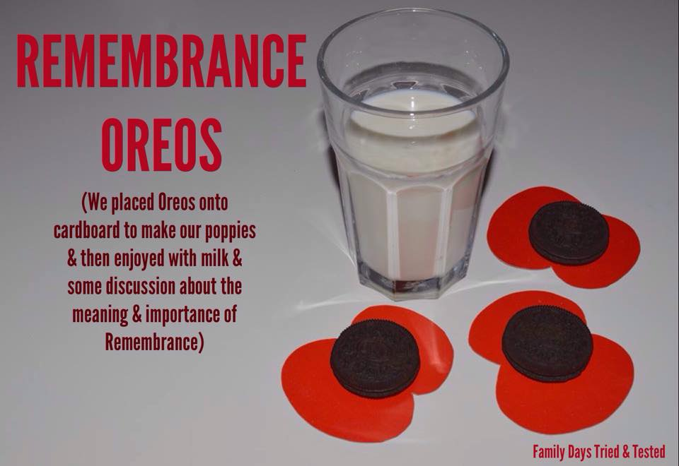 Remembrance Day Poppy Activities - Remembrance Oreos