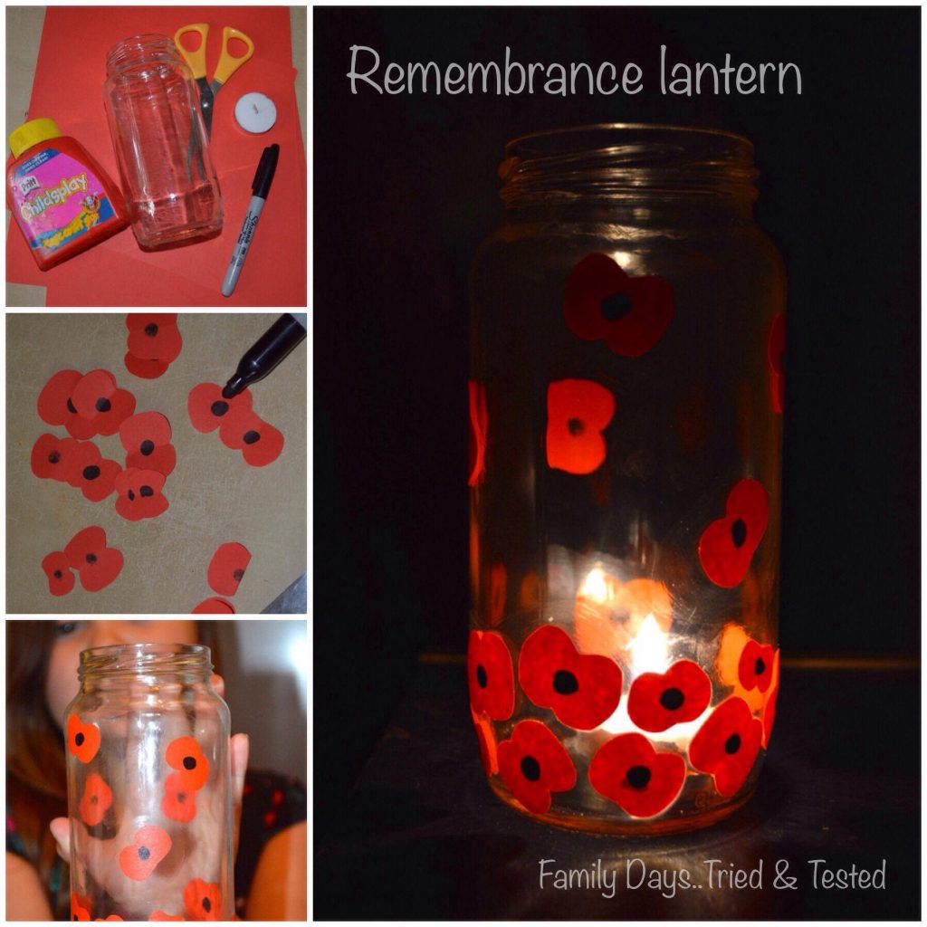Remembrance Day Poppy Activities - Remembrance Jar Lantern