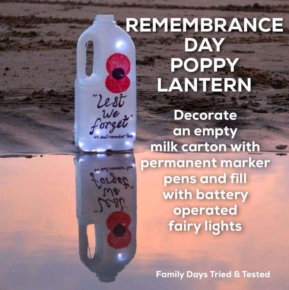 Remembrance Day Poppy Activities - Remembrance Day Poppy Lantern