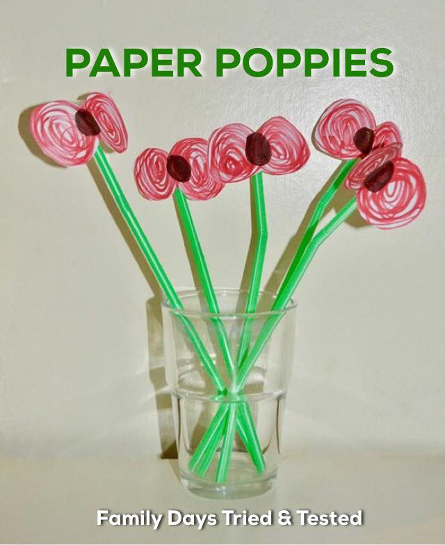Remembrance Day Poppy Activities - Paper Poppies in a Vase