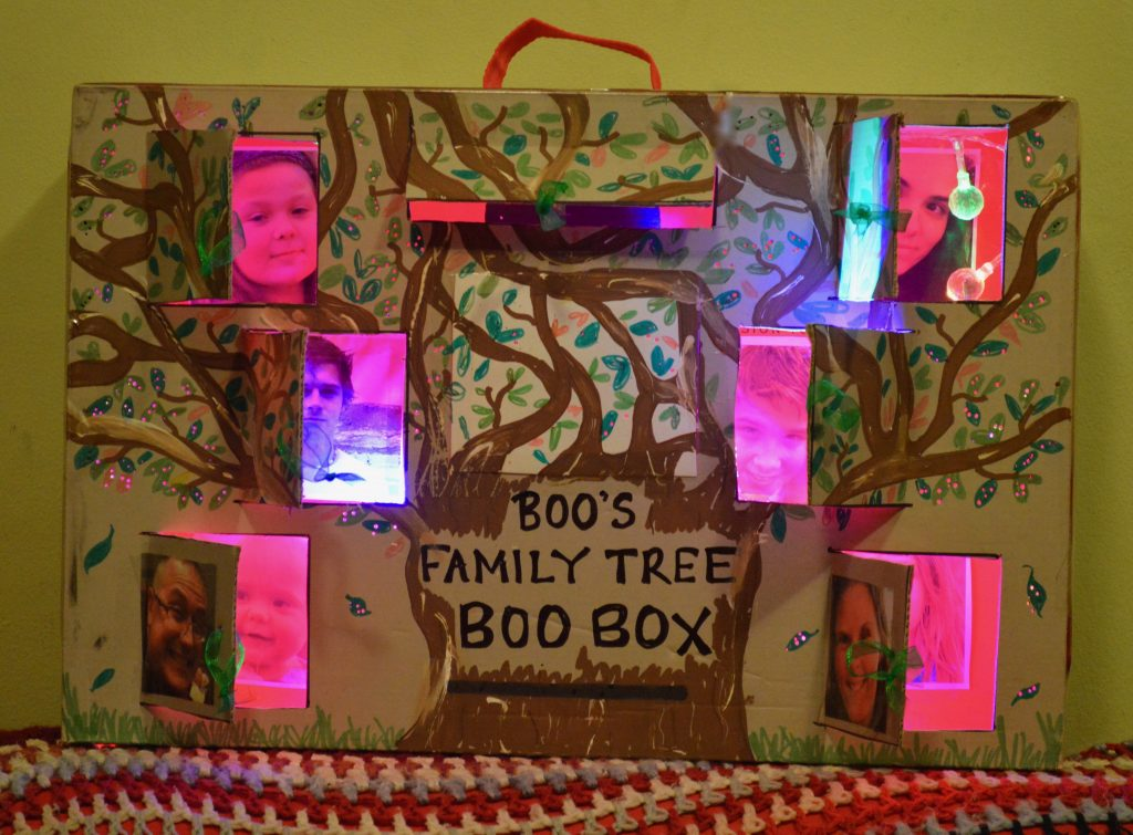 Family Tree Peek a Boo Box