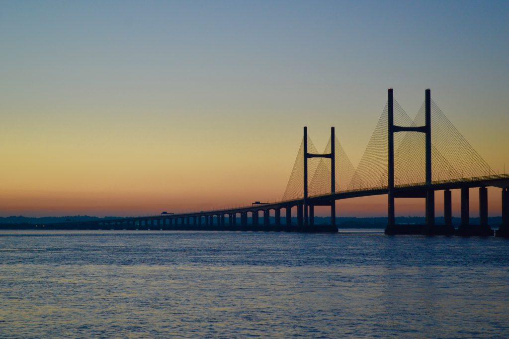 sunrise at Severn Bridge