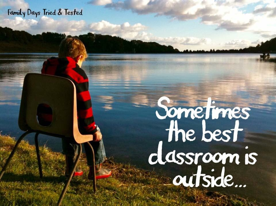 sometimes the best classroom is outside