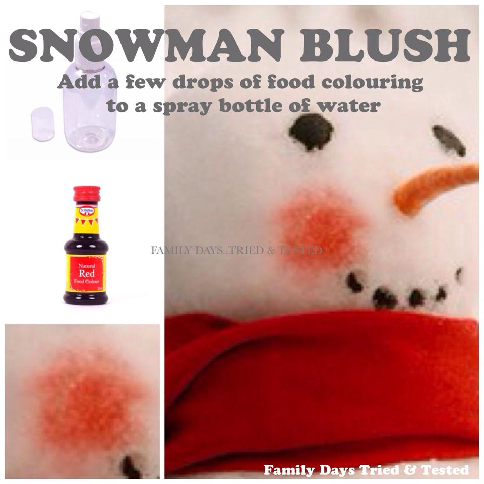 Christmas Activities For Kids - snowman blush