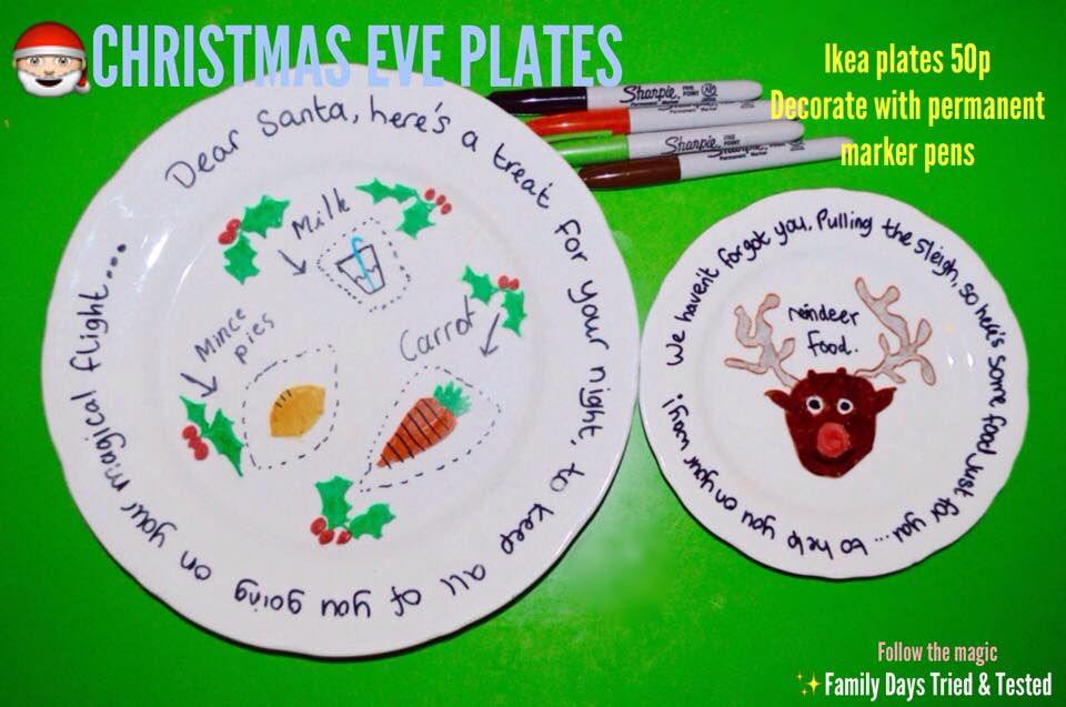 Christmas Activities For Kids - Christmas Eve plates