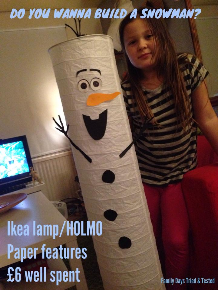 Christmas Activities For Kids - Olaf snowman light