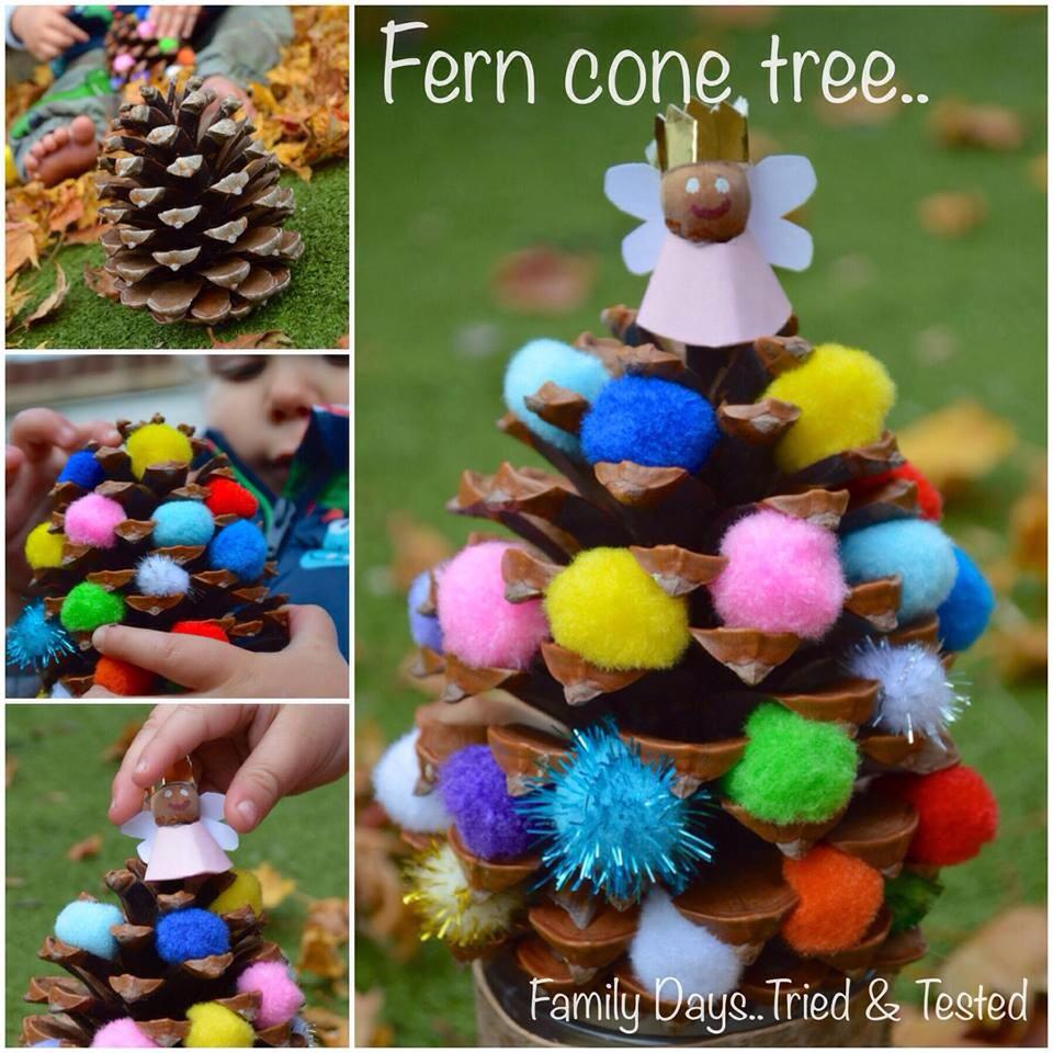 Christmas Activities For Kids - pine cone Christmas tree