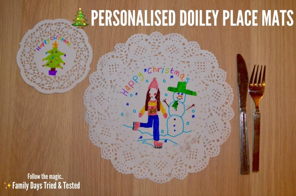 Christmas Activities For Kids - personalised place settings