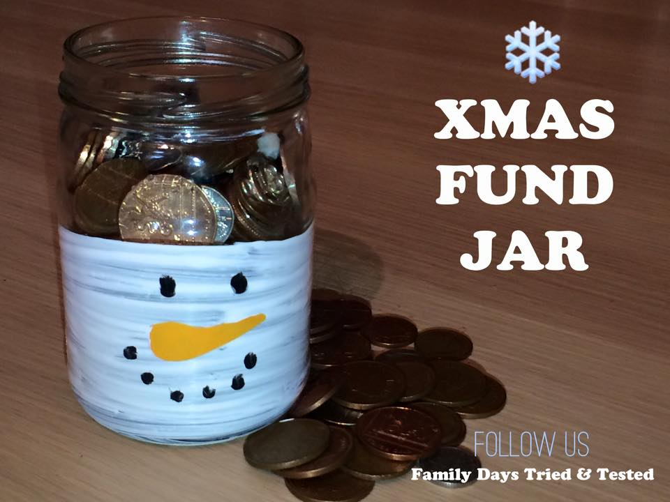 Christmas Activities For Kids - Christmas fund jar