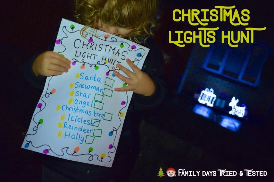 Christmas Activities For Kids - Christmas light hunt