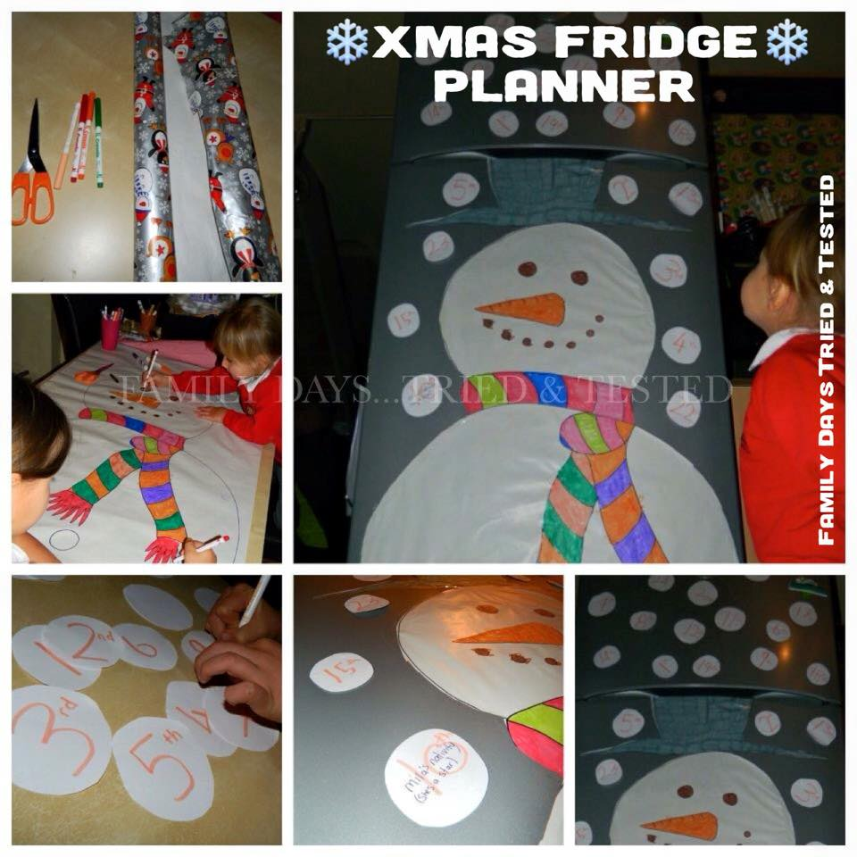 Christmas Activities For Kids - Christmas fridge planner