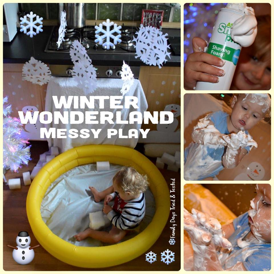 Christmas Activities For Kids - messy play