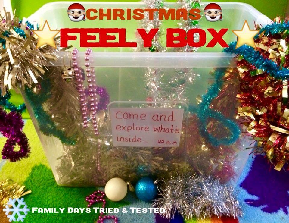 Christmas Activities For Kids - Christmas feely box