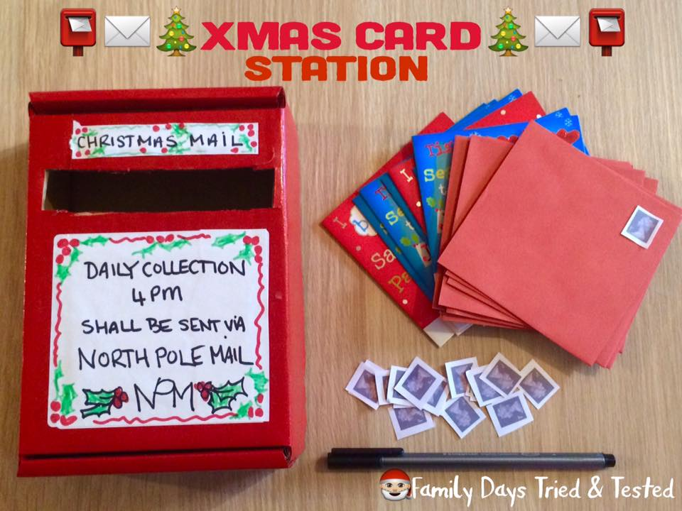 Christmas Activities For Kids - Christmas card station