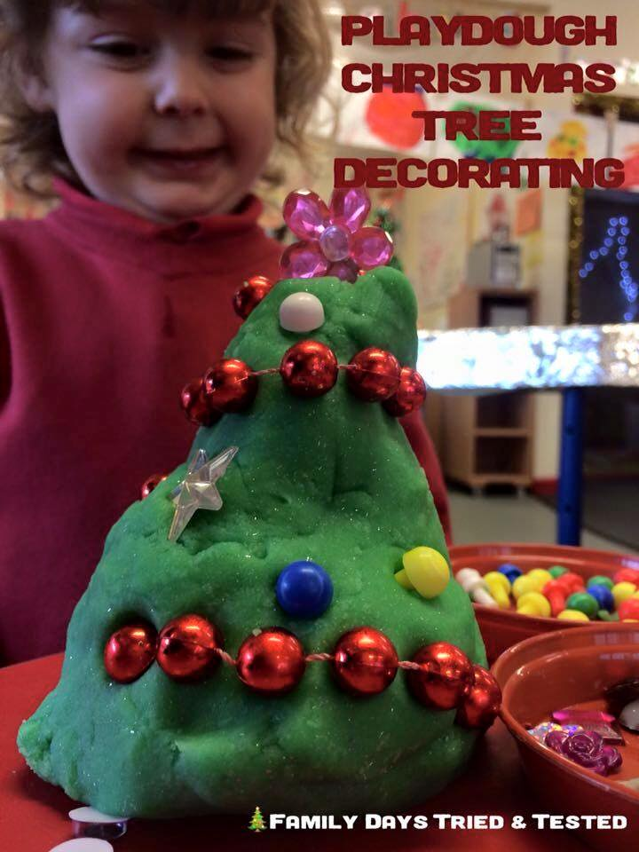 Christmas Activities For Kids - play dough Christmas tree