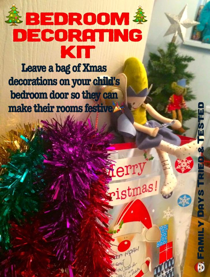 Christmas Activities For Kids - Bedroom decorating kit