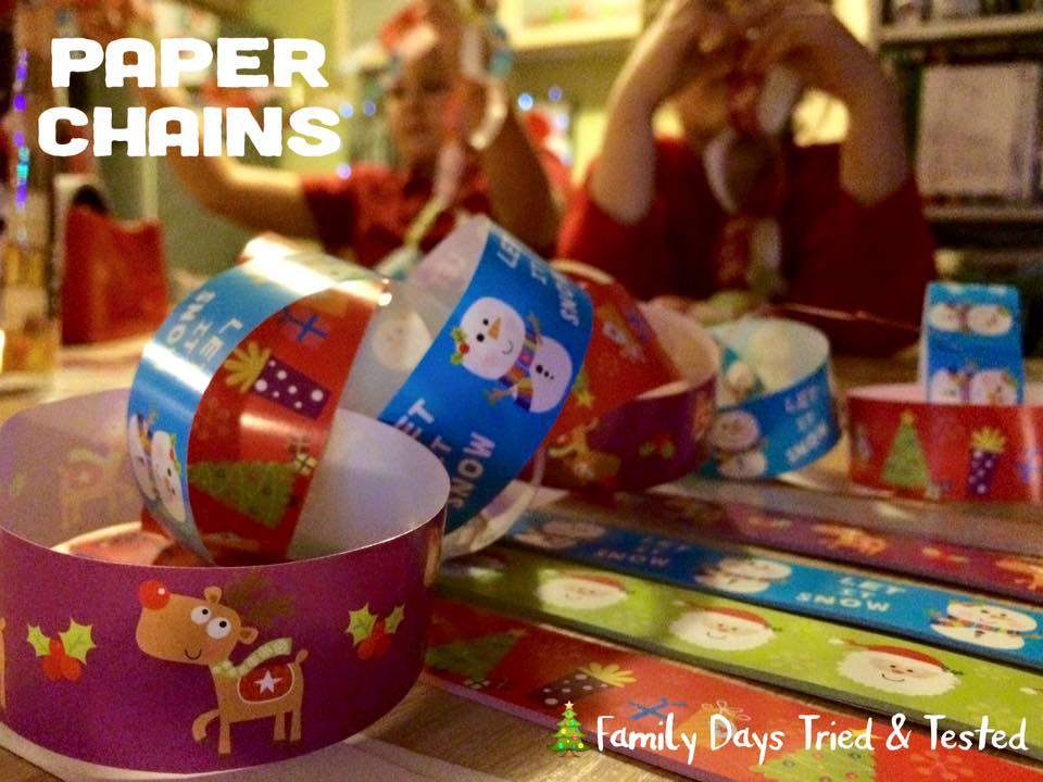 Christmas Activities For Kids - paper chains