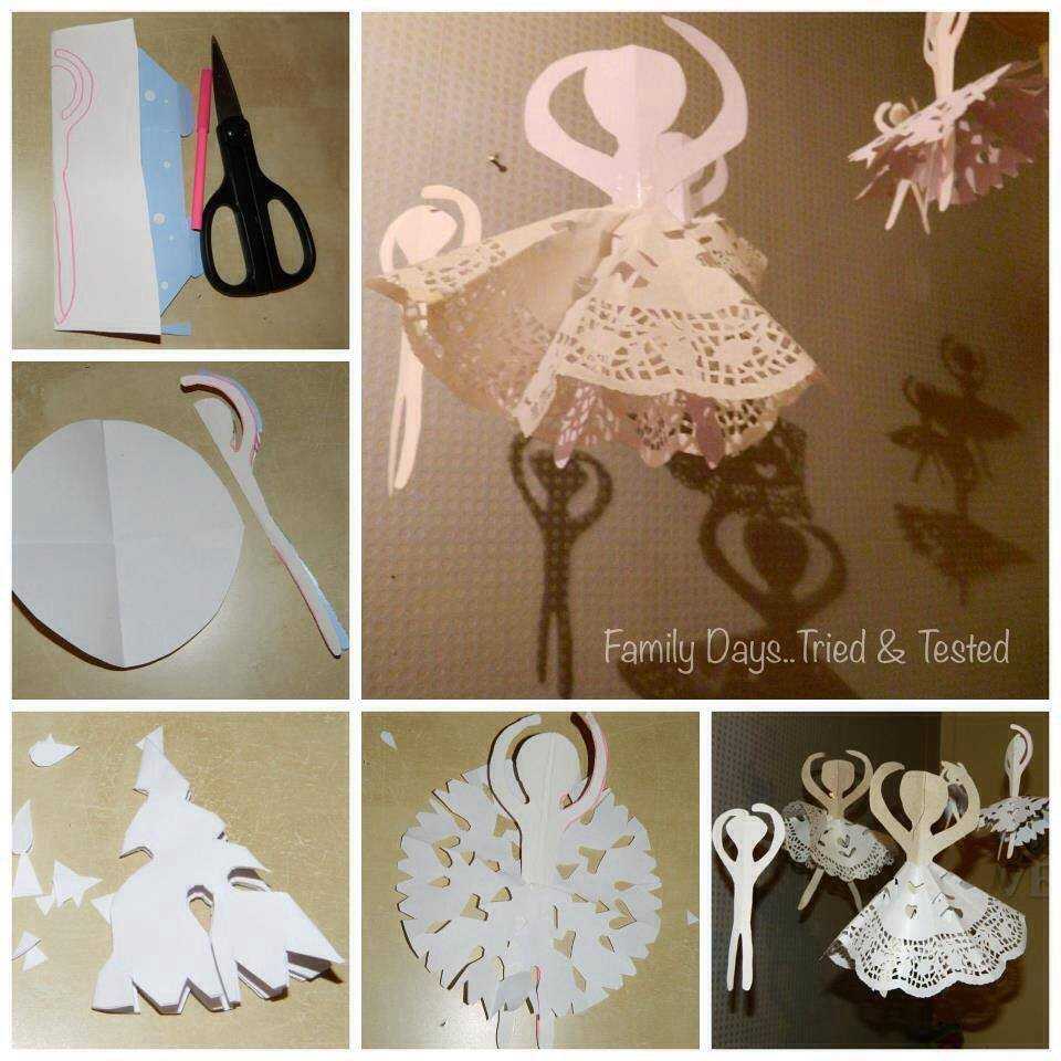 Christmas Activities For Kids - Christmas doily angels