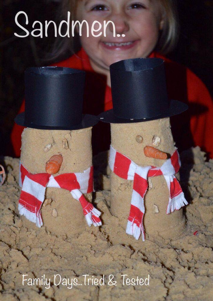 Christmas Activities For Kids - sandmen snowmen