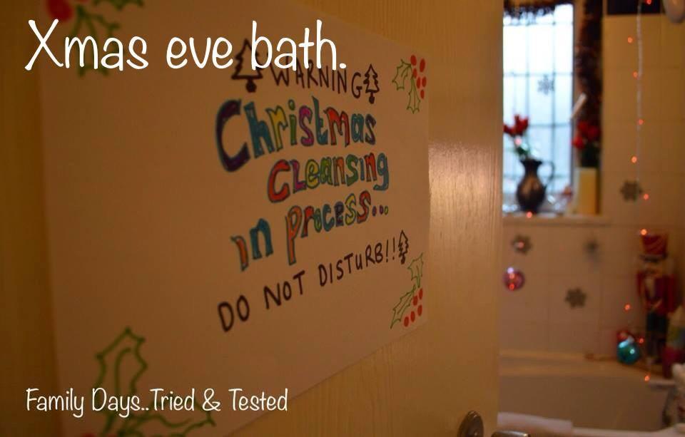 Christmas Activities For Kids - Christmas Eve bath