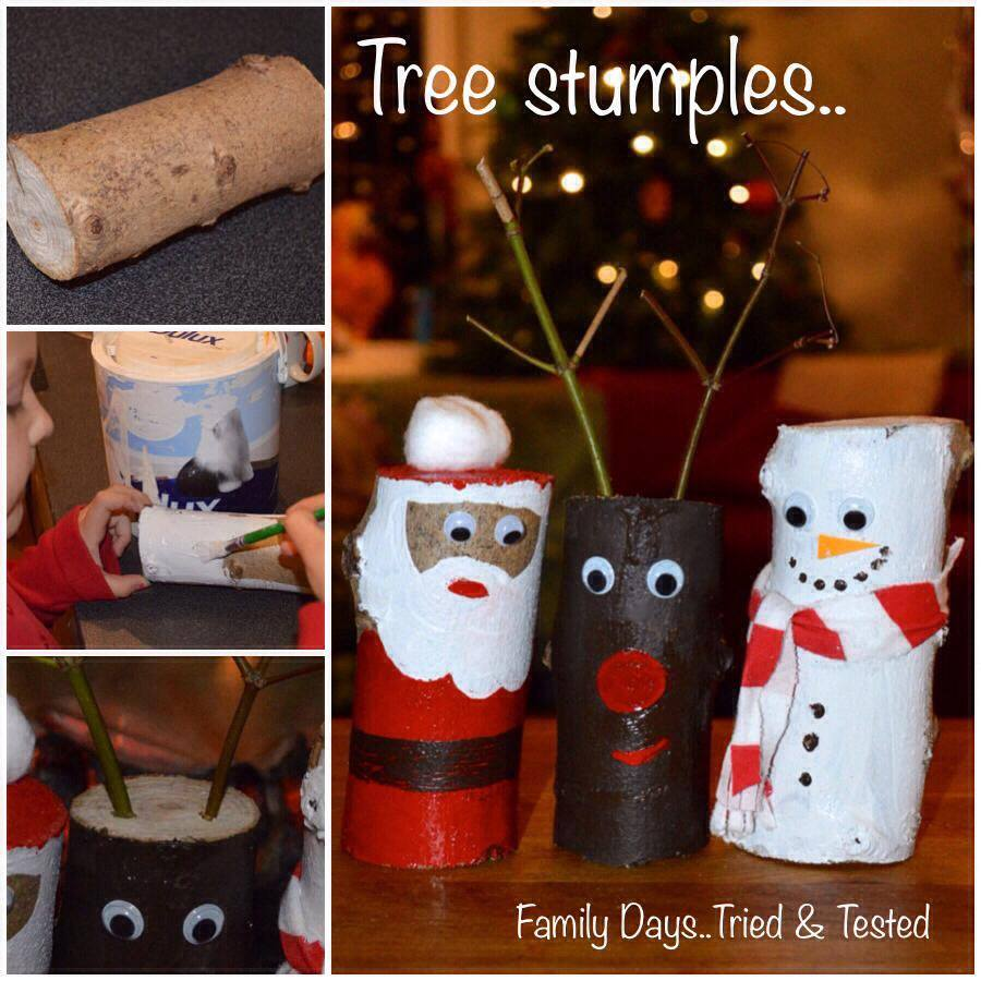 Christmas Activities For Kids - Christmas tree stumples