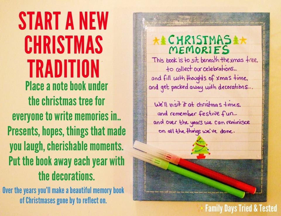 Christmas Activities For Kids - Christmas memories book