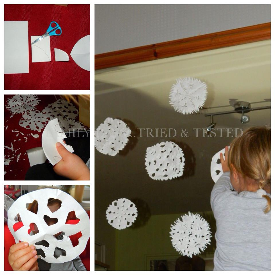 Christmas Activities For Kids - paper snowflakes