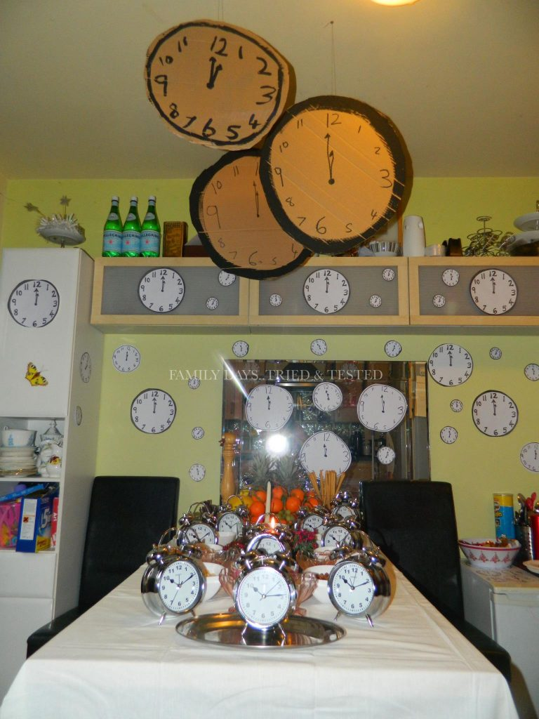 Christmas Activities For Kids - New Year's Eve cardboard clocks
