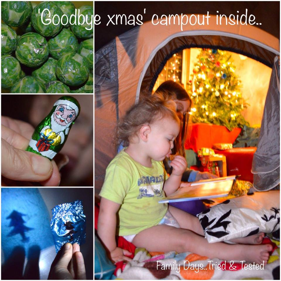 Christmas Activities For Kids - Christmas camp out