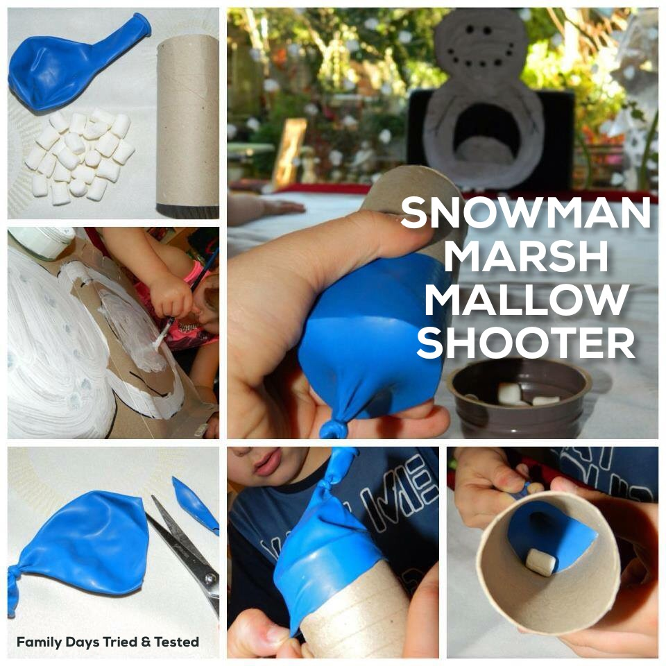 Christmas Activities For Kids - marshmallow snowball shooter