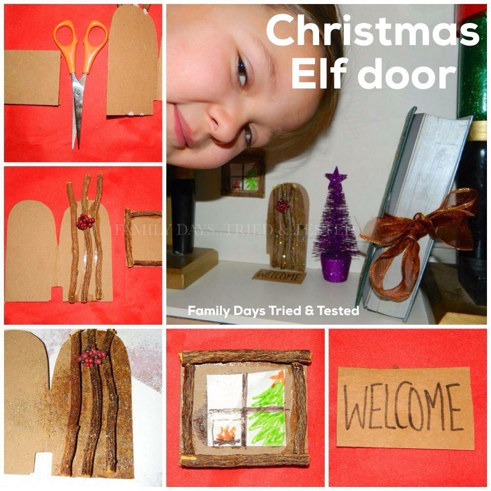 Christmas Activities For Kids - Christmas elf doors