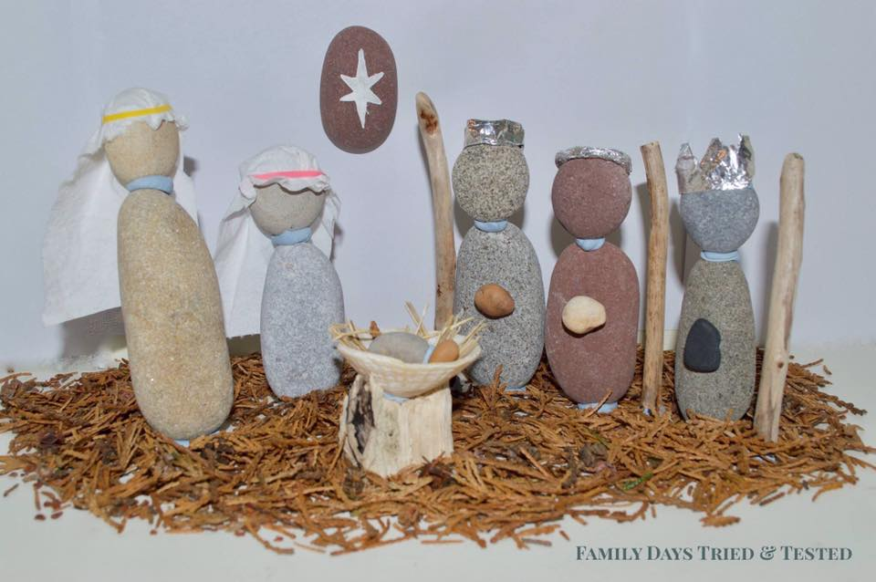 Pebble Nativity