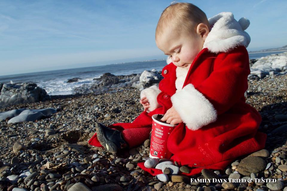 Pebble Nativity - choosing pebbles