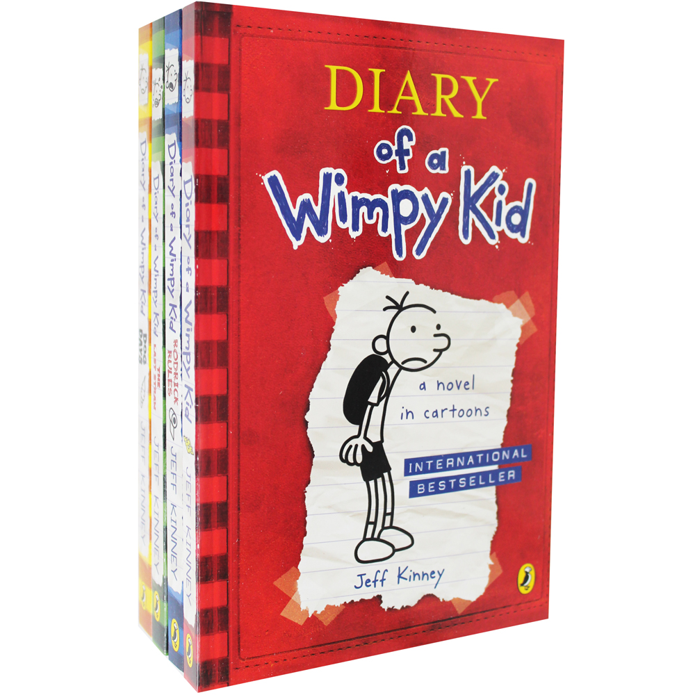 Diary Of A Wimpy Kid - 4 Book Box Set
