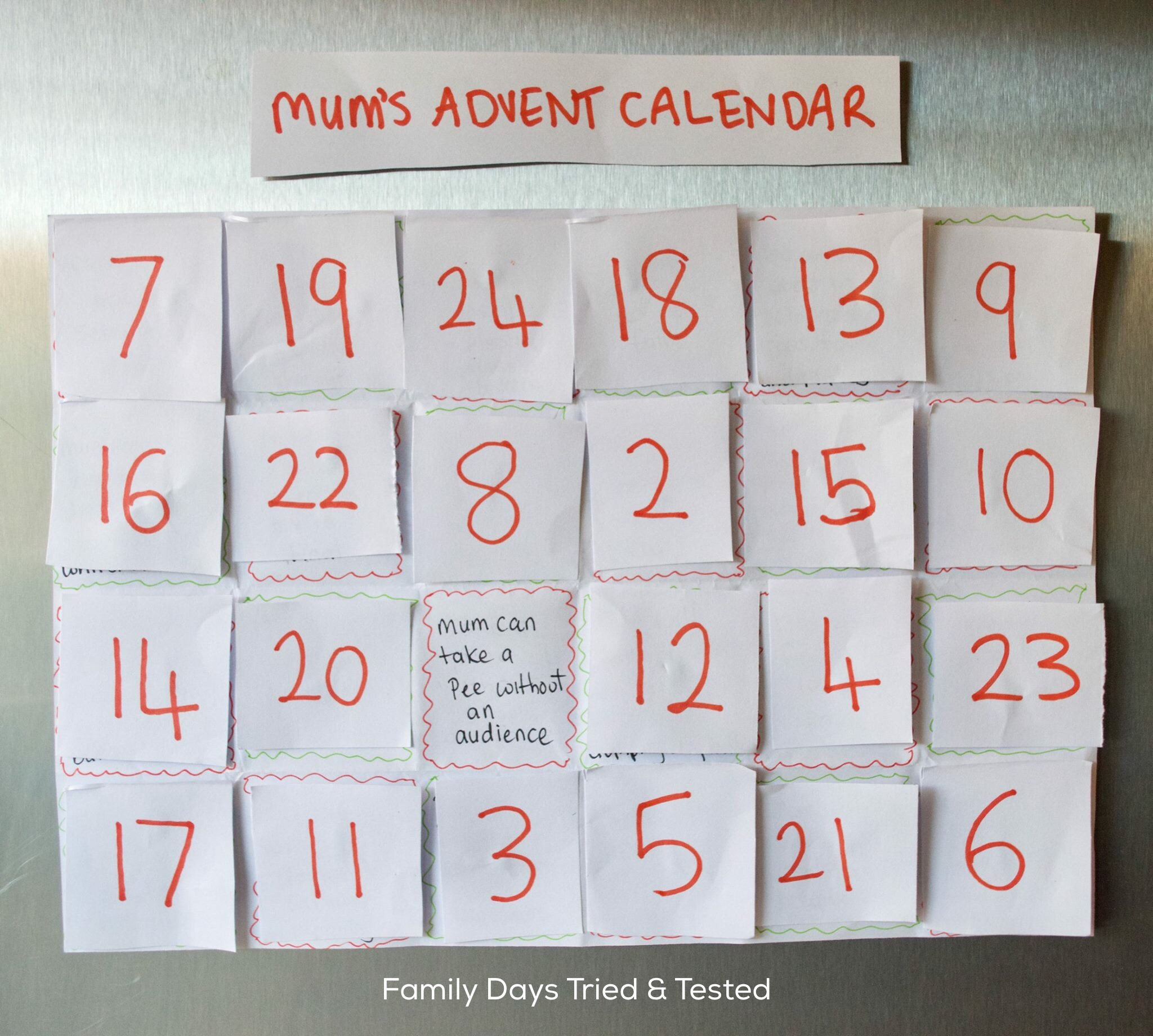 Advent Calendar For Mums