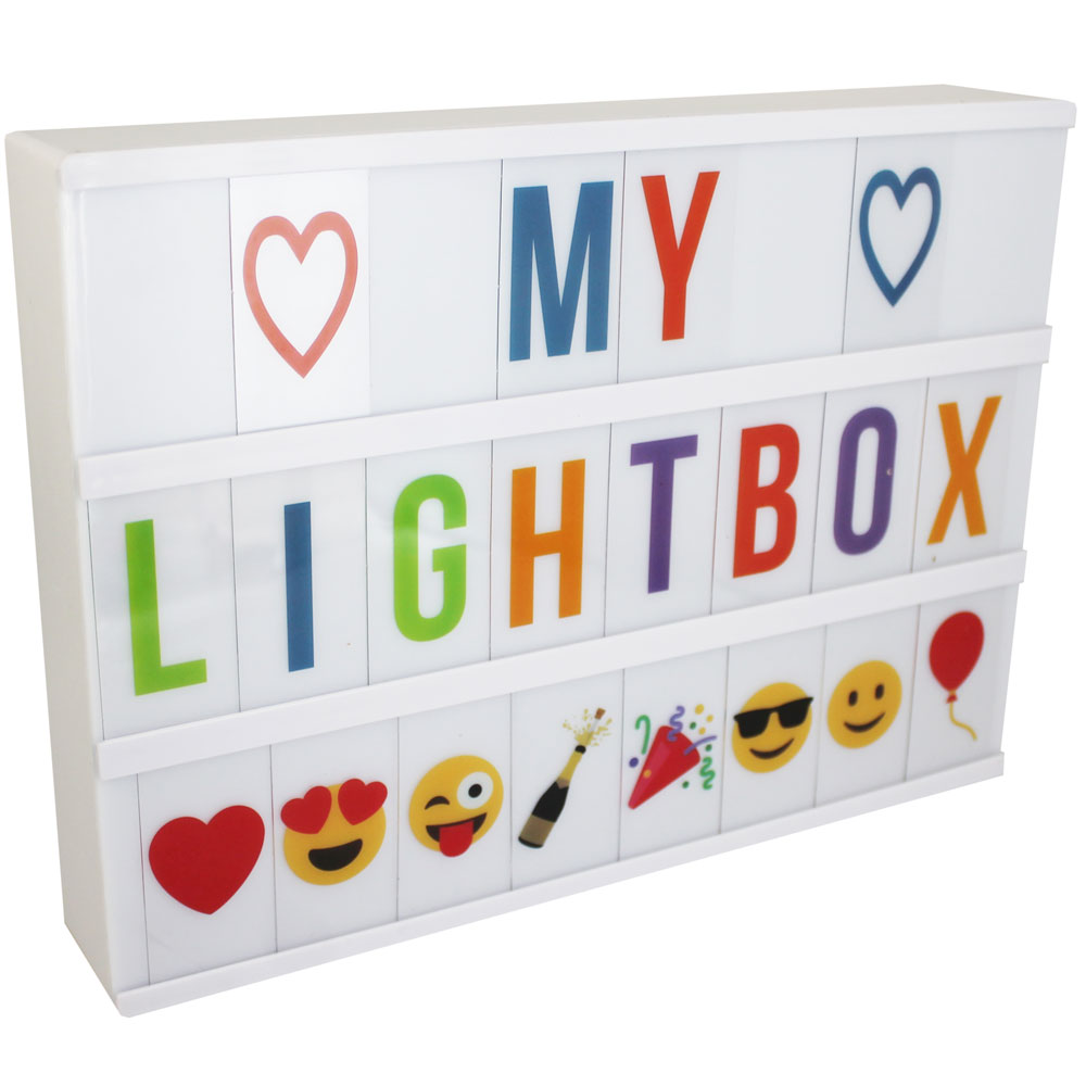 LED Cinema Light Box With Coloured Letters