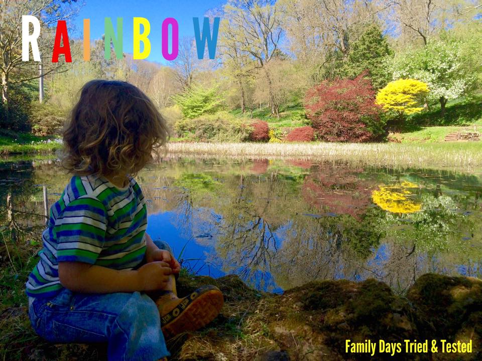 Ways to Get Kids Excited About Walking - rainbow hunt