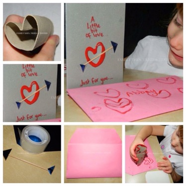 Heart Stamp Cards - Valentine's Day Ideas