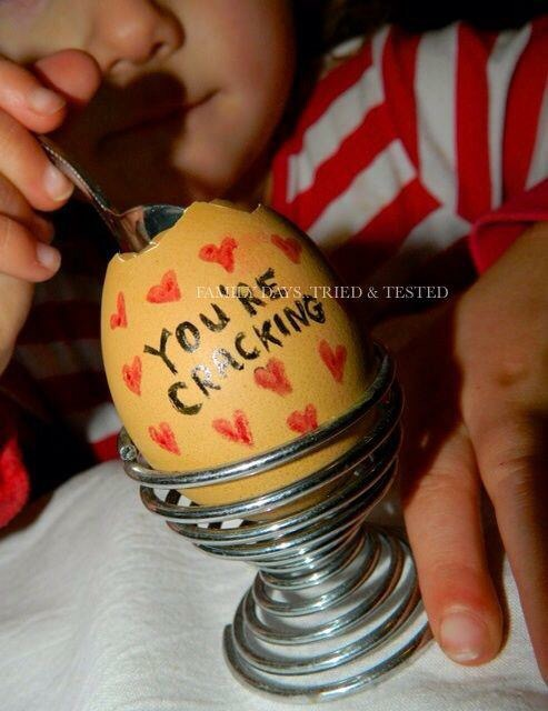 You're cracking boiled egg - Valentine's Day Ideas