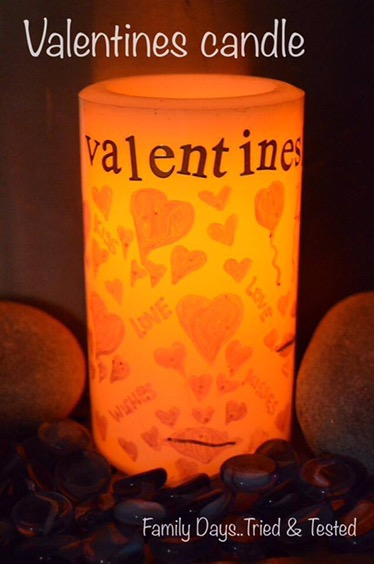 Valentine's Candle - Valentine's Day Ideas