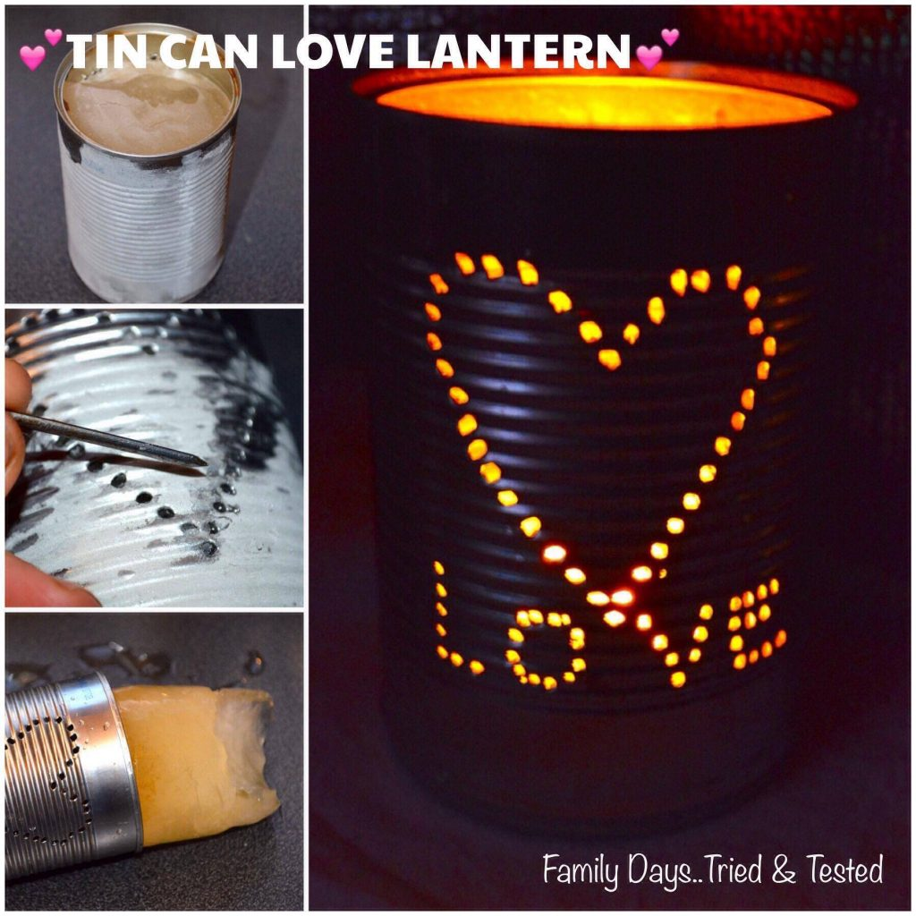 Tin can love lantern - Valentine's Day Ideas