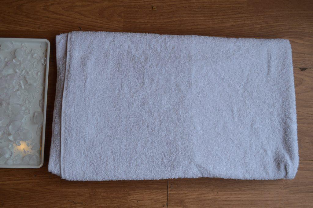 Sensory walkway - a towel