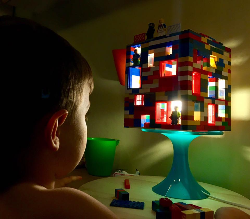 How To Make A Really Easy Lego Lamp Night Light