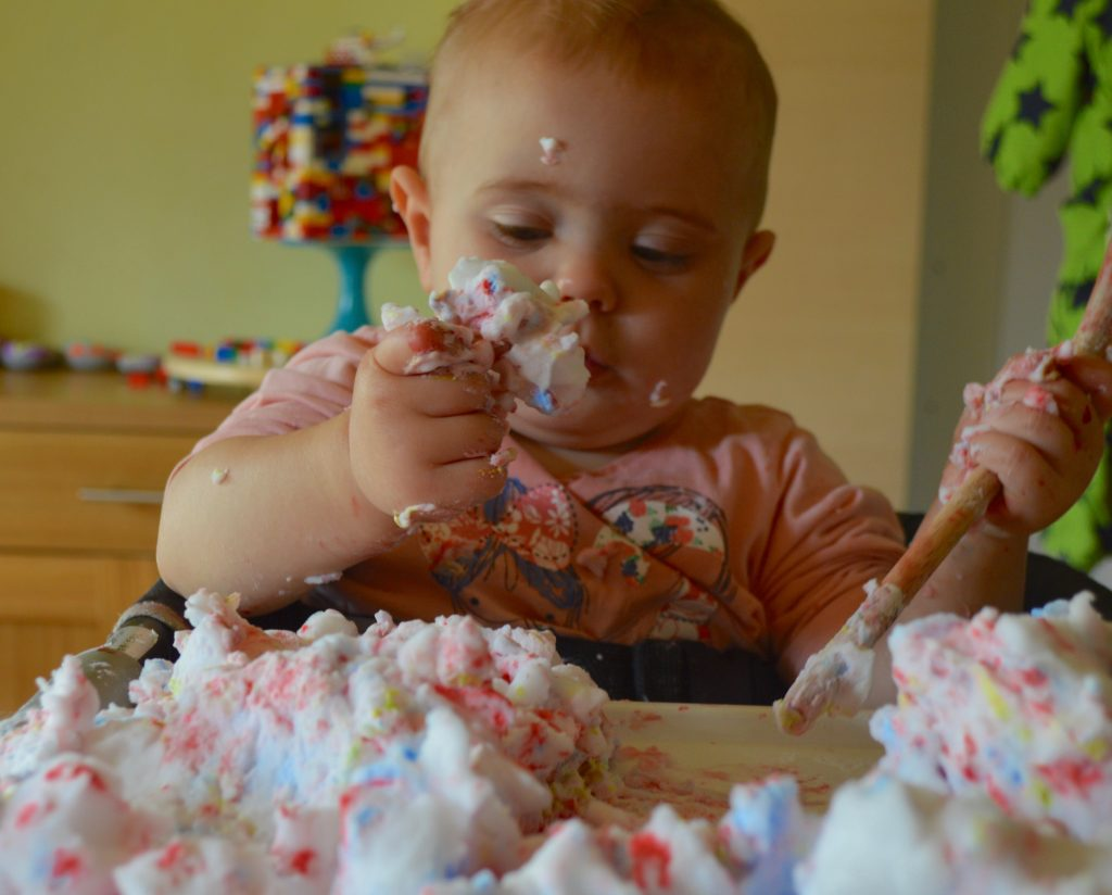 Soap Foam Toddler Sensory Play
