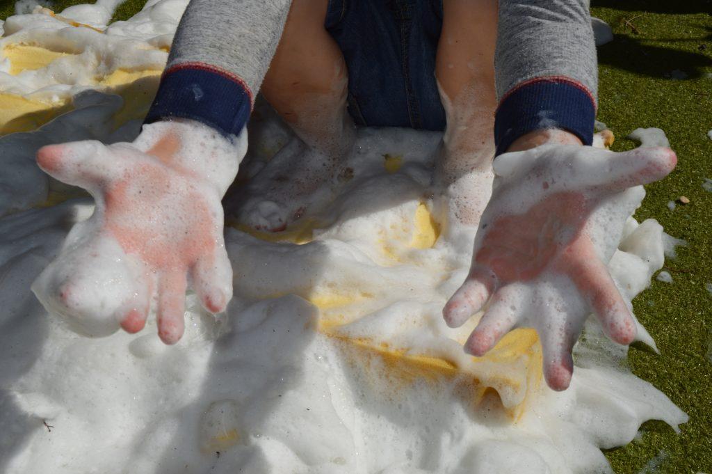Sponge Foam Bubble Play