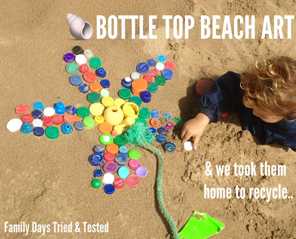 Bottle top beach art