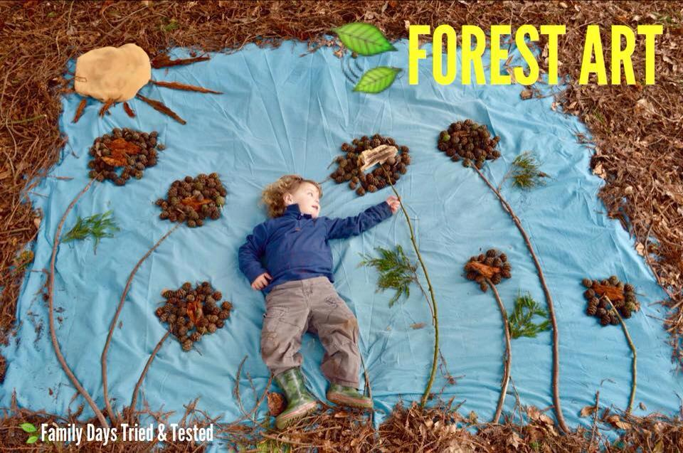 creating forest art with children