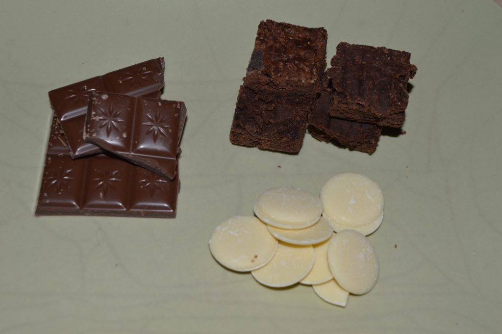 Chocolate Brownie Conkers - ingredients